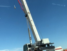 KP Squared providing crane rental services on site in the Northern Rockies